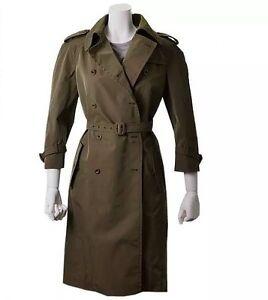 c46bbbaaaee MIU MIU Cappotti Cotone Tecnico Trench Coat Olive Green IT 46   US ...
