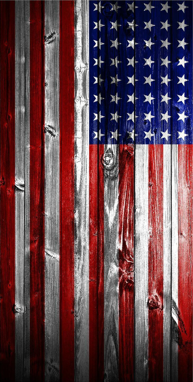Flat American Flag Wood  Cornhole Wrap Bag Toss 3M Cornhole Decal Set  sale online