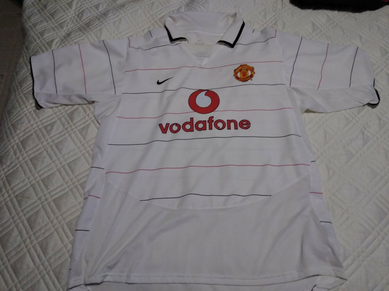 Manchester United Official Jersey Vodafone Sponsorship Premier League ManU socce