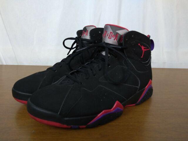 Nike Air Jordan VII 7 Retro Black Red Charcoal Purple Raptors 304775 018
