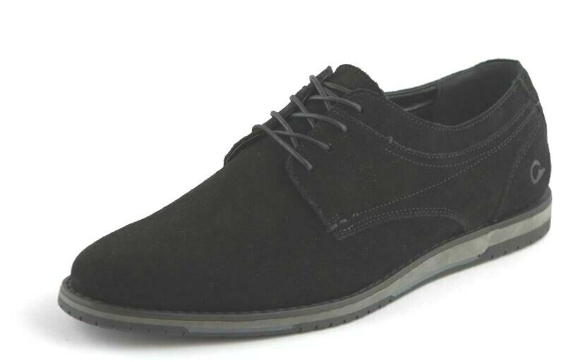 Men's Black Leather Fashion Formal 4 Eyelet Tie shoes Sizes Eur 44   UK 10
