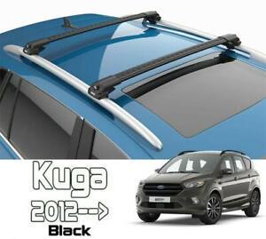 Ford Kuga Roof Rack Cross Bars Air I BLACK 2013-- | eBay