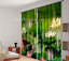 3D Lotus leaf 8 Blockout Photo Curtain Printing Curtains Drapes Fabric Window AU