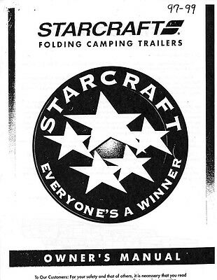 1997 Starcraft Folding Camping Popup Trailer Owners Manual