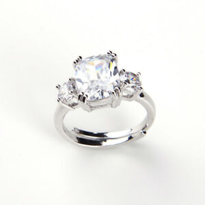 1pcs Fashion Simulated Princess Replica Engagement Ring Meghan Duchess of Sussex
