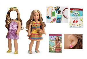 American Girl Lea Clark Doll Meet Accessories Passport and 4 Animal Photos New..