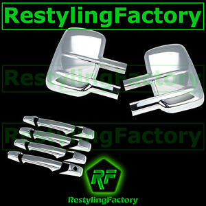07-14-Chevy-Silverado-Sierra-Chrome-Towing-Mirror-4-Door-Handle-no-PSG-KH-Cover