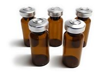 10ml Sterile Amber Glass Vials 10 Pack Free Shipping