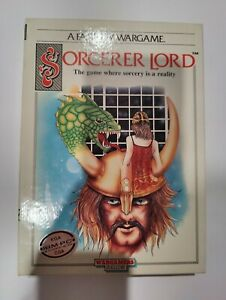 "Sorcerer Lord Big Box IBM-PC 5.25"" floppy disc PSS 1988 Wargamers w/ map"