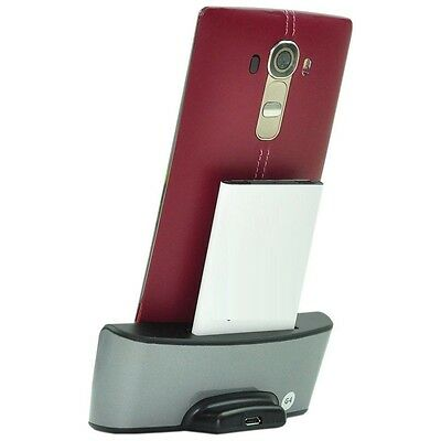 Dedicated Dock Cradle Desktop Charger Stand with OTG + Spare Battery for LG G3