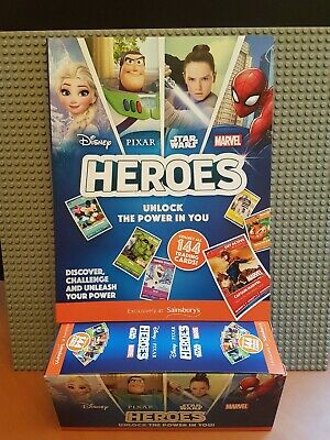 Official Sainsbury/'s Heroes Album Disney Pixar Marvel StarWars Collectors NEW UK