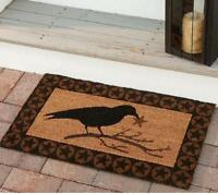 Country Lodge Primitive Crow With Star Coir Doormat By Park Designs