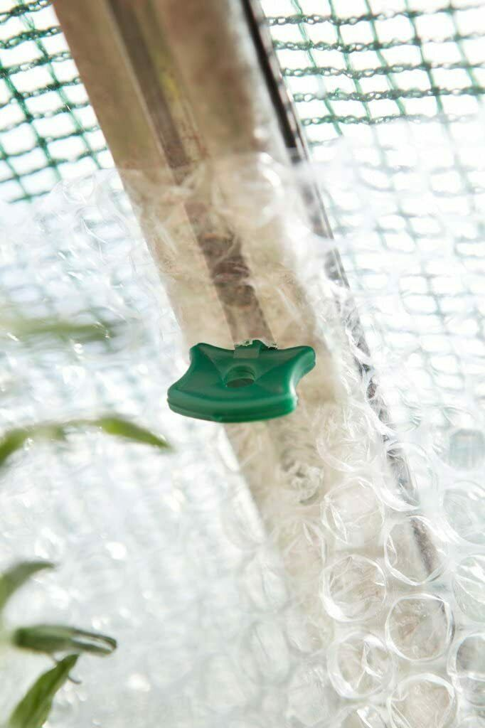 Alliplugs for Fitting Bubble Wrap and other Insulators to Greenhouse Frames x 50