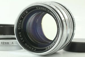 Exc-5-mit-Hood-Canon-50mm-f-1-8-Leica-Mount-l39-LTM-Silver-FedEx-aus-Japan-a337