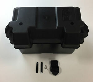 Complete Group 27 Battery Box with Locking Lid