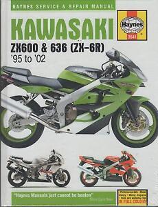 1995 2002 Haynes Kawasaki Zx600 636 Zx 6r Service Repair
