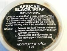 AFRICAN BLACK SOAP paste 100% Natural, Raw, Organic & Handmade 8oz Tub