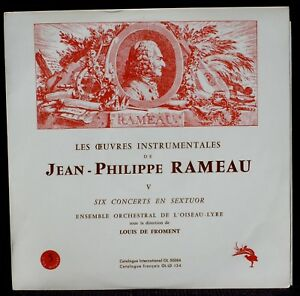 Rameau 6 concerts en sextuor Orchestre Oiseau-Lyre Louis de Froment LP & CV NM