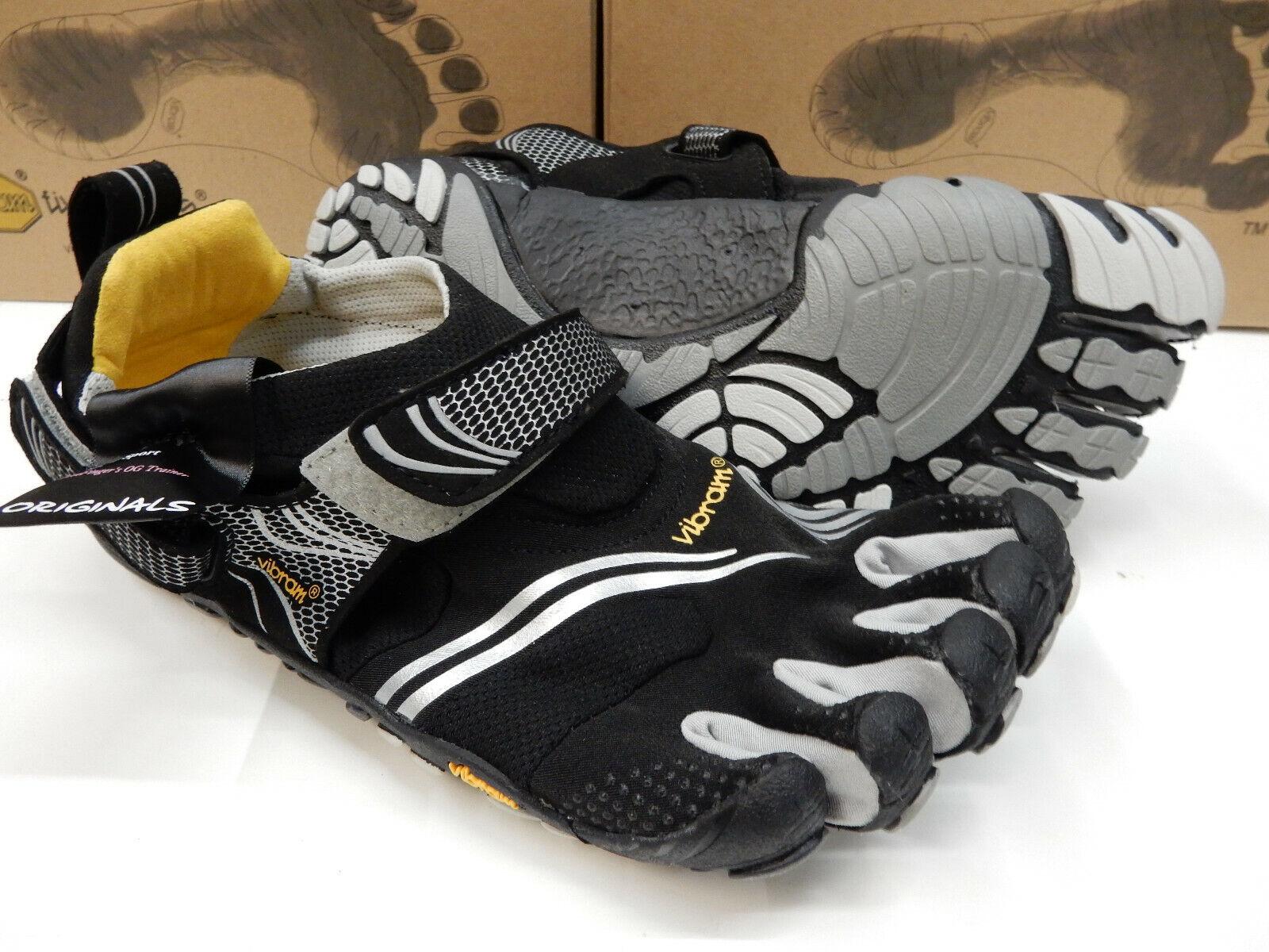 Vibram FiveFingers para hombre KMD Sport Negro Plata gris Talla Eu 43