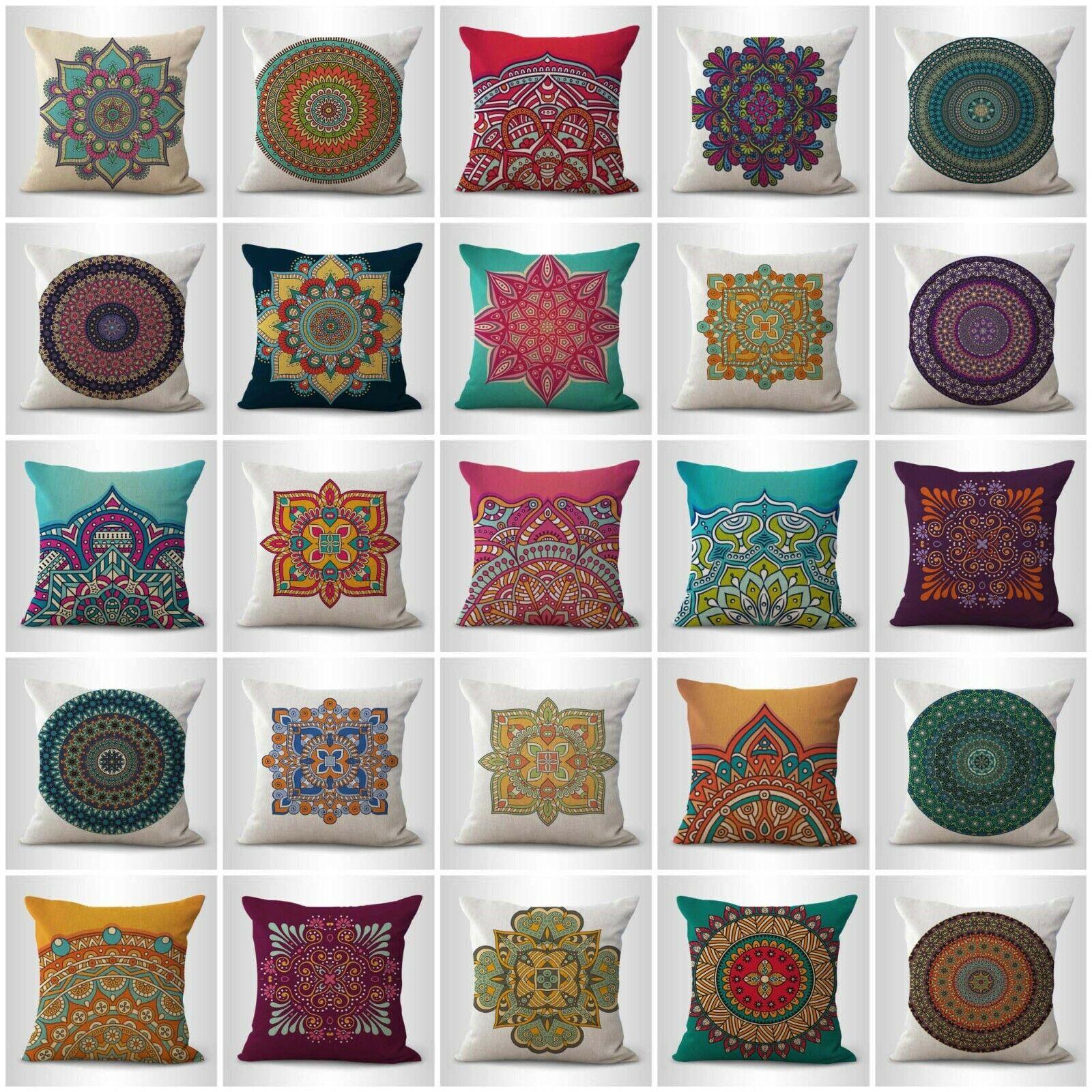 US Vendeur-Lot de 20 cercle sacré Mandala Coussins pour intérieur meubles