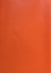 Vinyl Faux Leather Perforated Orange Commercial Grade Upholstery