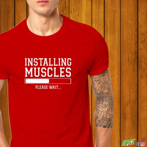 Fitnest Tshirt Installing Muscles Loading Tshirt Gym Shirt
