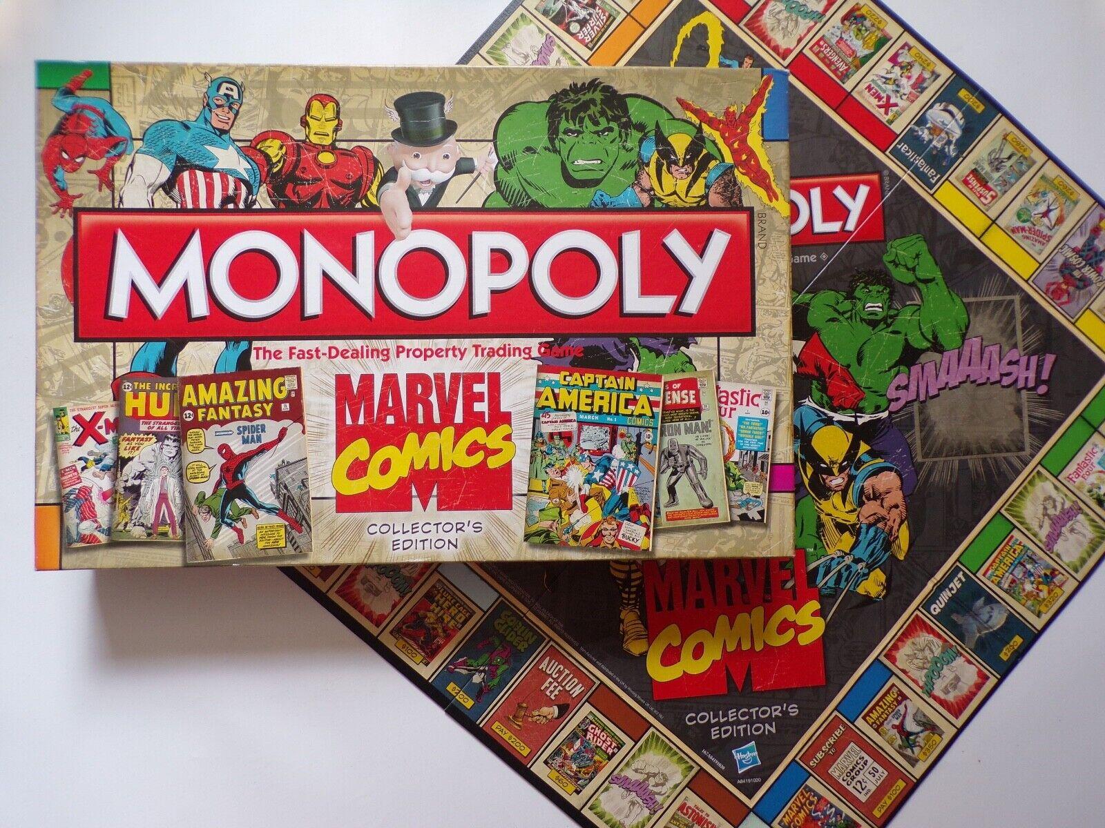 2013 Monopoly MARVEL COMICS COLLECTOR'S edizione (SIGILLATO Contenuto)  Gioco da tavolo  spedizione gratuita