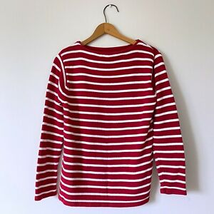 Vintage-90s-Womans-Red-White-Striped-Sweater