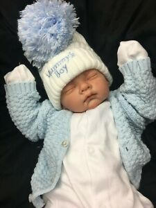 REBORN-BABY-BOY-FIRST-REBORN-SPANISH-STYLE-OUTFIT-HUGE-POM-POM-0125-S