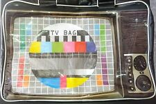 Wanted Retro TV Weekend Travel Gym Overnight Bag Black