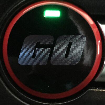 """2015-2019 Mustang Push Button /""""GO/"""" Carbon Fiber Vinyl Overlay PBGO/_CF"""