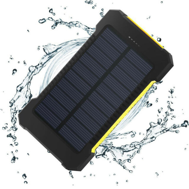 US 50000mAh Power Bank 2USB Solar External Battery Charger For Samsung Note 8 5