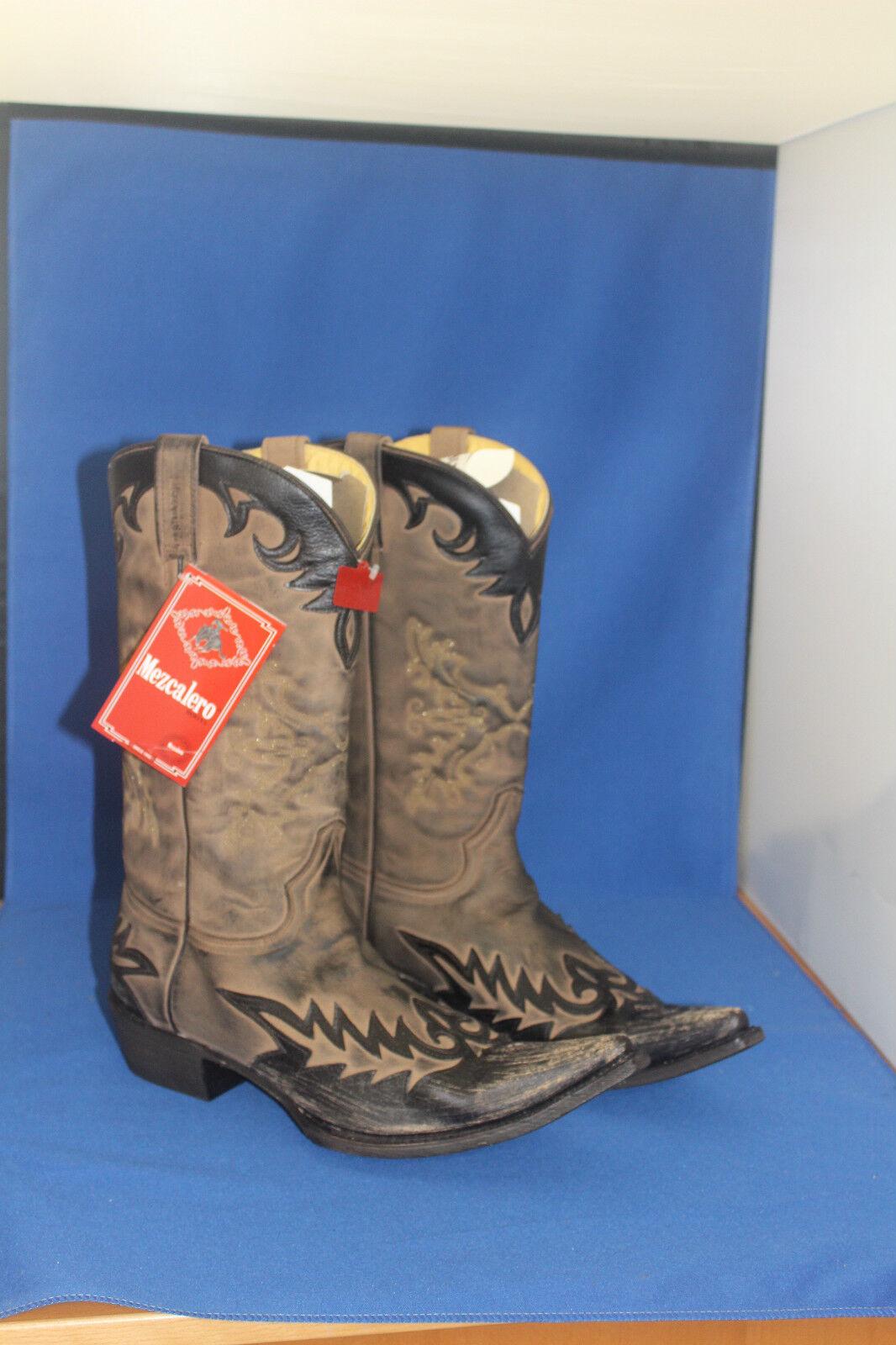 Mezcalero Stiefel Stiefel  westernstiefel cowboystiefel neu  gr. 42  neu cowboystiefel  leder be145a