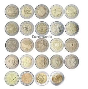 France 2 Euro - Toutes les Commémoratives Monnaies de 2007 à 2020 Disponibles