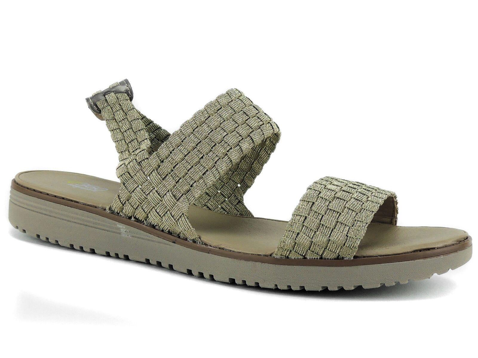 Easy Spirit e360 Women's Talini Sandals gold Woven Fabric Size 9.5 M