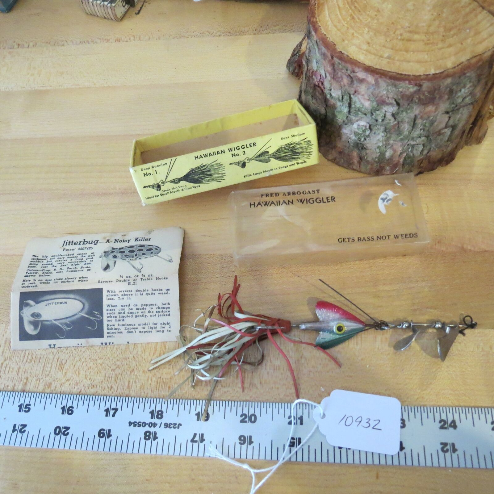 Vintage Hawaiian  Wiggler No.2 Patented double spinner fishing lure (Lot)  online sale