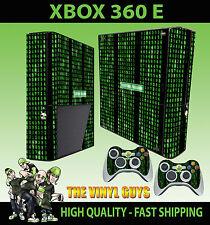 XBOX 360 E MATRIX CODE SYSTEM FAILURE STICKER SKIN & 2 PAD SKIN