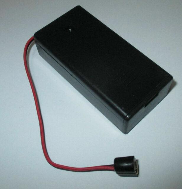 Kahlert Licht 60893 Batteriebox leer mit Schalter für 2x 1,5 V Batterien NEU