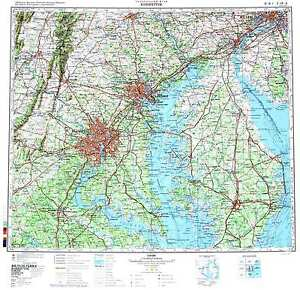 Russian Soviet Military Topographic Maps WASHINGTON DC USA - Washington dc usa map