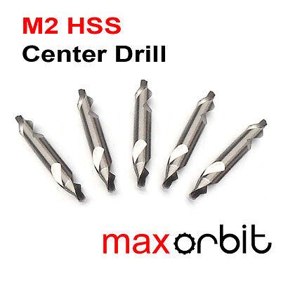5 PC 1.6mm HSS Center Drill Bits 60° Countersink HRC 63 M2 High Speed Steel