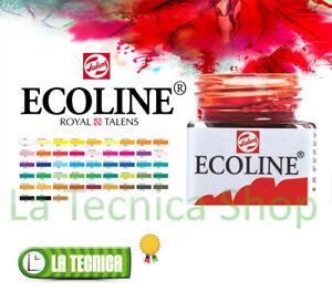 ECOLINE-Royal-Talens-boccetta-30ml-Acquerelli-liquidi-TUTTI-I-COLORI