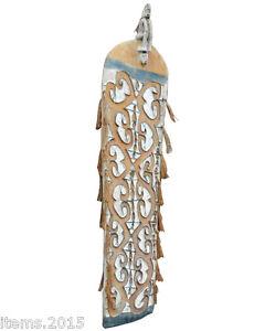 """""""grand Bouclier En Bois Sculpte Polychrome Et Raffia Origine Papouasie , Jofk9srh-10042149-311770976"""