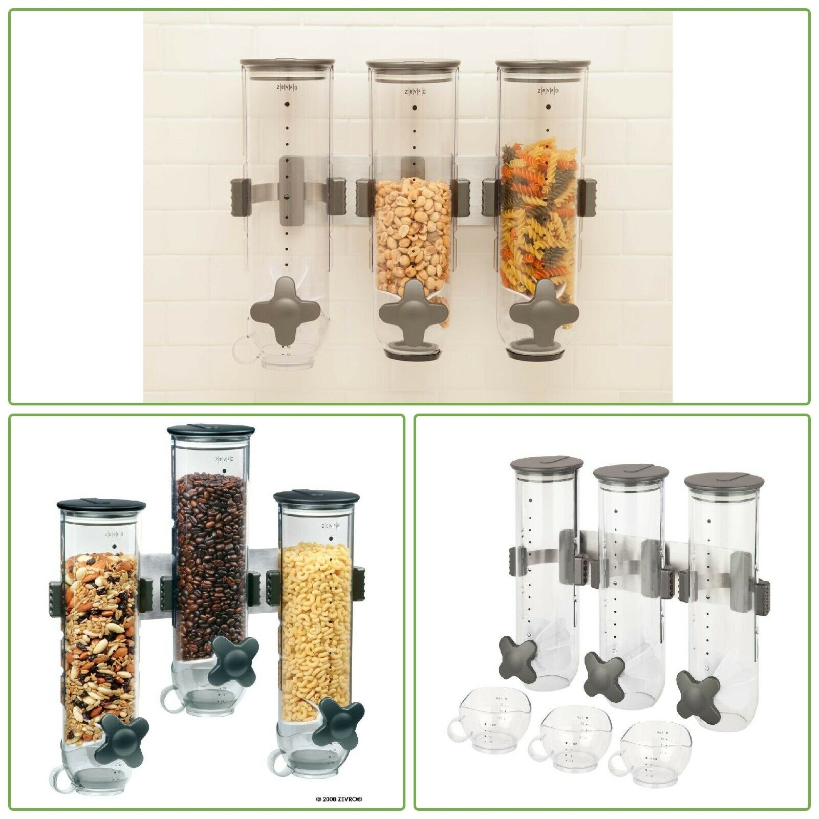 glass cereal dispenser                                     wall mount click here if the banner is blank