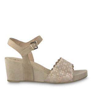 Details zu Tamaris 1 1 28366 22 558 Schuhe Damen Leder Keil Sandalen Sandaletten old rose