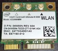 Intel Wireless-N 6300 633ANHMW 450Mbp 802.11a/g/n WIFI WLAN Half Mini PCI-e Card