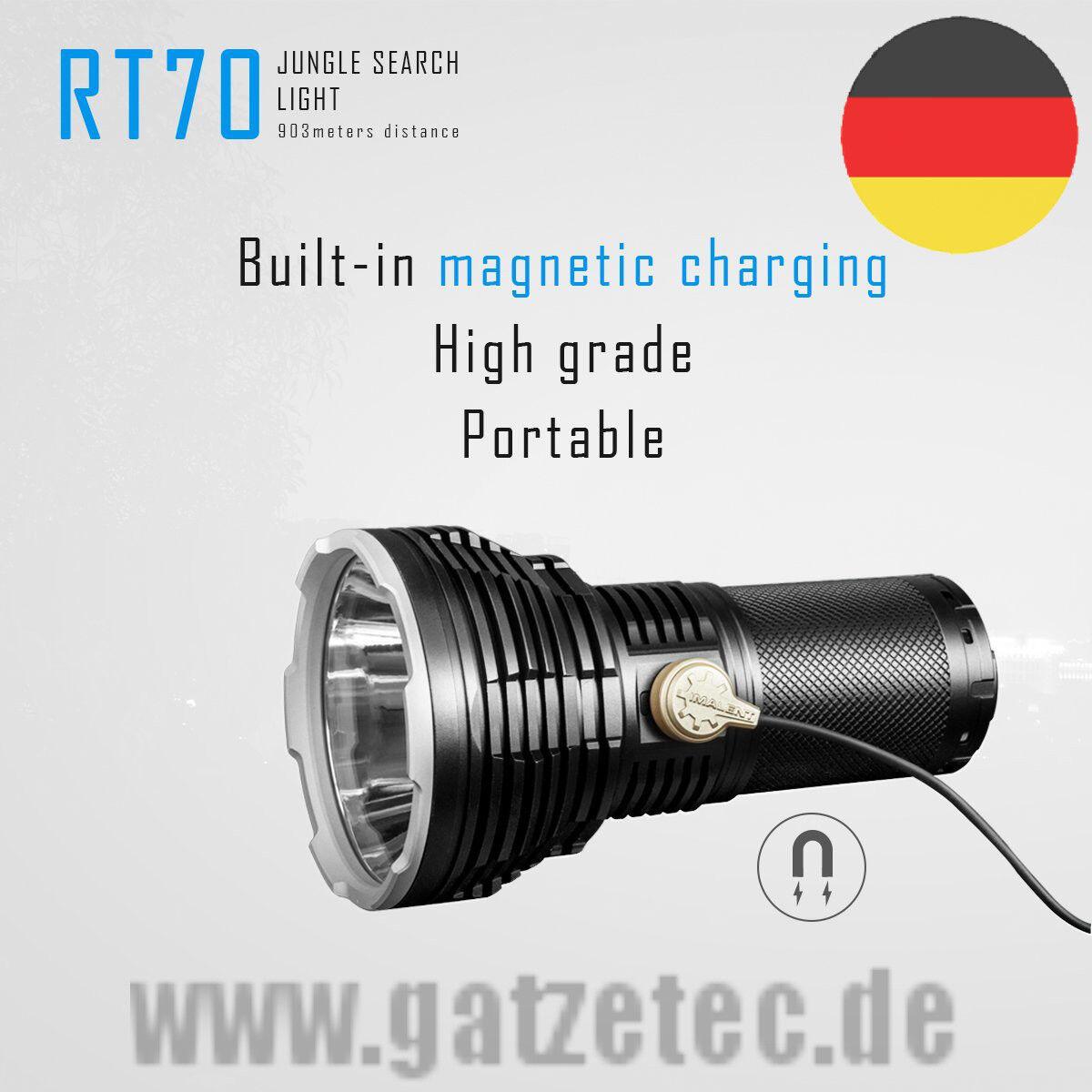 2019 Imalent RT 70 DEL Lampe de poche CREE XHP 70-2 5500 LM Kit incl. Batterie