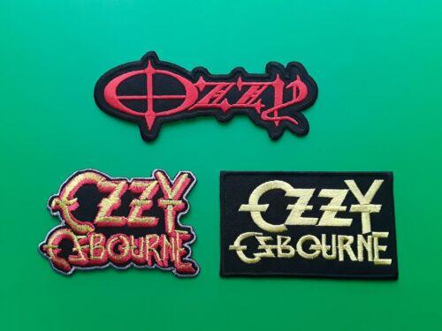 b Set of Three Ozzy Osbourne Patches Sew On /& Iron On Badges