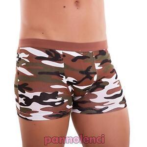 Boxer uomo slip intimo lingerie mimetici militari mutande cotone nuovo 5828