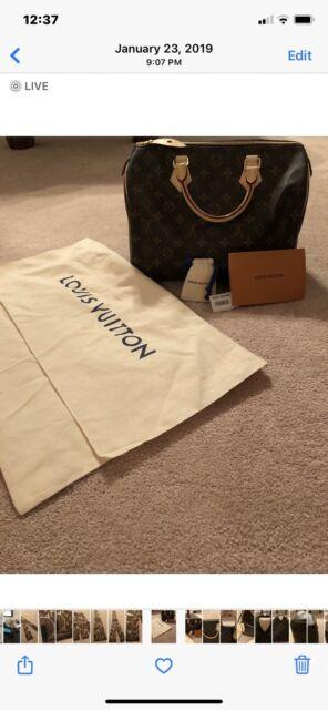 Louis Vuitton Speedy 30 Monogram Handbag NWT