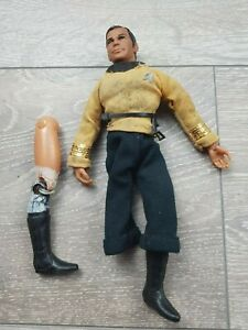 Vintage-Mego-Star-Trek-Captain-Kirk-Action-Figure-Doll-8-034-Tall-1974-for-repairs
